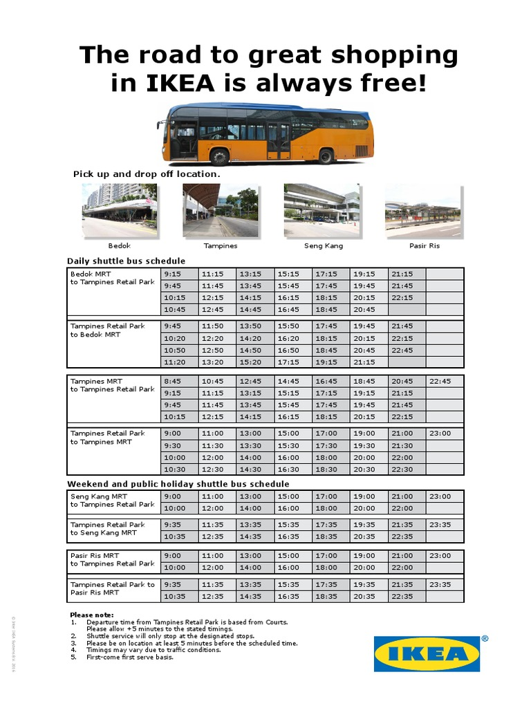 IKEA Tampines_A4 Shuttle Bus Schedule   Passenger Rail ...