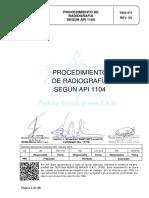 Tsg 471 Procedimiento de Radiografia API 1104-Rev 03