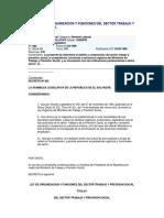 Ley de Organizacion y Funciones Del Sector Trabajo y Prevision Social