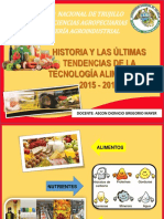 Historia y Las Últimas Tendencias de La Tecnología Alimentaria 2015 - 2017