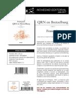 Dibbuks lanzará 'QRN en Bretzelburg' en julio de 2017