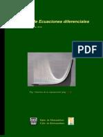 Apuntes de Ecuaciones Diferenciales (1106p)