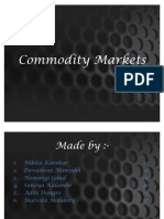 Commodity Markets Final