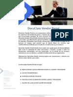 Brochure DocuClass Vendor Portal - Portal de proveedores