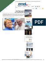 Bachelet Dice Que Visita Del Papa Permitirá Reflexionar Sobre El Rol Del Dinero en El Desarrollo Del País _ Emol
