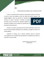 Gacetilla Agresión de Seguridad Sitio Web Del Ejército Argentino