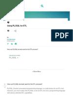 Using Pl_sql for Etl