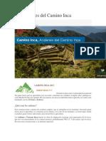 Los Andenes Del Camino Inca