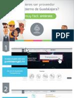 ¿Quieres ser proveedor del Gobierno de Guadalajara? Sigue estos sencillos pasos.