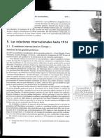 Las Relaciones Internacionales Hasta 1914