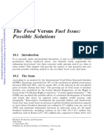 Chapter 10 the Food Versus Fuel Issue Possible Solutions