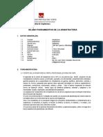 Sílabo de Fundamentos de La Arquitectura (1)