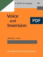 Talmy Givón Ed. Voice and Inversion