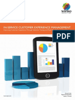 In-Service Customer Experience Management