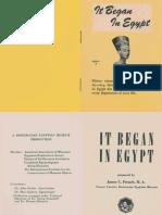 It Began in Egypt, Series B (AMORC)