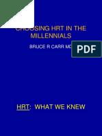 Choosing HRT in the Millenials