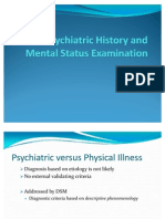 Psychiatric History and Mental Status Examination