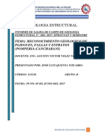 GEOLOGIA ESTRUCTURAL Informe Para Presentar