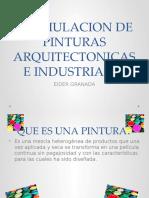 Formulacion Pintura Arquitectonicas e Industriales