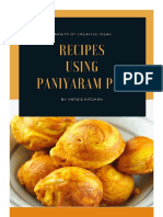 Recipes using Paniyaram Pan