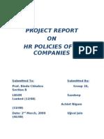 HR Practices IT Cos