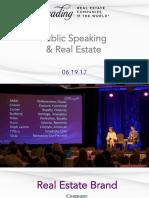 Public Speaking Tips for Real Estate