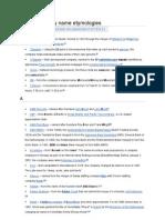 List of Company Name Etymologies