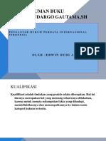 Power Point Rangkuman Buku Prof Sudargo Gautama,Sh Judul Pengantar Hukum Perdata Internasional Indonesia