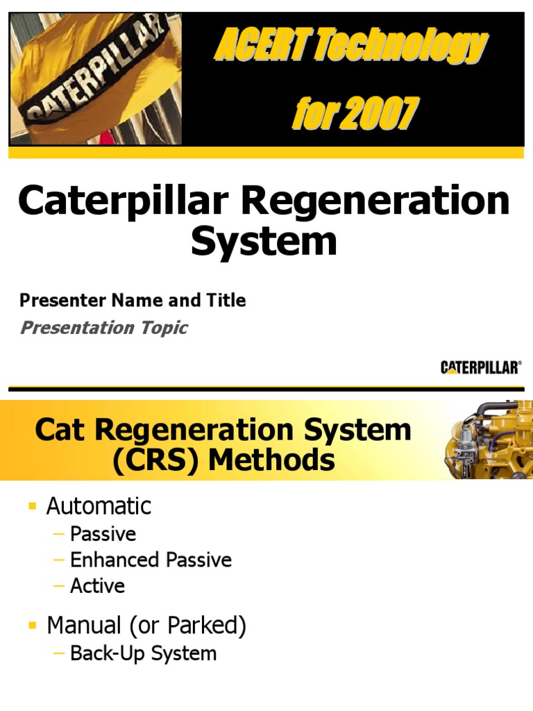 Caterpillar Regeneration System New Template | Automatic