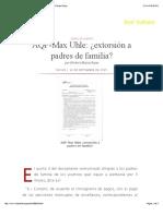 Aqp Max Uhle c2bfextorsic3b3n a Padres de Familia Por Herbert Mujica Rojas