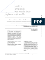 Medio Ambiente y Educación Ambiental Representaciones Sociales de Los Profesores en Formación