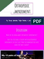 expert presentation- orthopedic impairment
