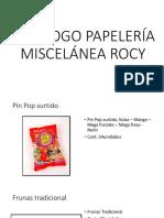 Catálogo Papelería Miscelánea Rocy
