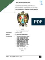 plan estratégico institucional