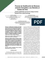 (Castellanos Et Al, 2012) Modelado Del Proceso de Gasificación de Biomasa
