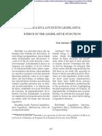 La Etica en La Funcion Legislativa