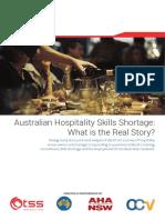 Survey Report - Australian Hospitality Skills Shortage