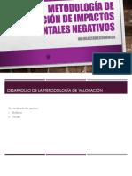 Metodología de valoración de pasivos ambientales.