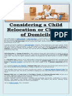 Considering a Child Relocation or Change of Domicile