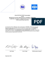 2013 09 IAF ILAC ISOcommunique ISO IEC 17020 Final Signed