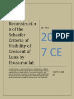 Reconstruction of Schaefer' Formula Of Visibility Of Crescent Of Luna