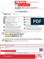 Prévisions de trafic à la compagnie des transports strasbourgeois, grève à compter du mercredi 21 juin