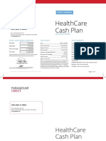 HealthCare Cash Plan Policy