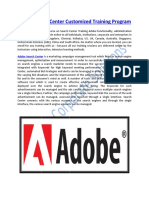 Adobe Search Center Customized Training Program