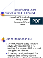 Advantanges of Using Short Stories in the ELTl