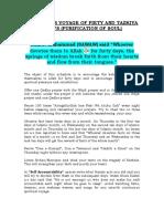 Forty Days Voyage of Piety and Tazkiya e Nafs