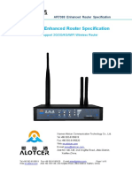 Xiamen Alotcer AR7088 Enhanced Router Specification
