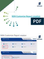 NSN Customize Report Creation