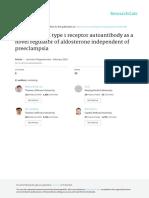 2015 Angiotensin II Type 1 Receptor Autoantibody as a Novel Regulator of Aldosterone Independent of Preeclampsia.