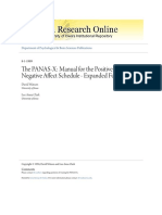 The PANAS-X- Manual for the Positive and Negative Affect Schedule